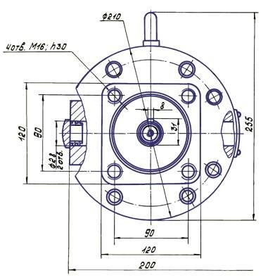 Нерегулируемый аксиально-поршневой насос-мотор МНАФ 63/22